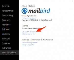 Mailbird Pro License Key 2019 + Crack Full Version