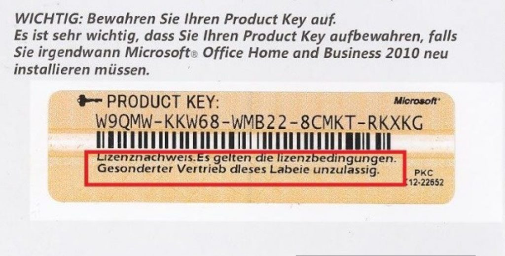 microsoft office home and business 2010 product key free list