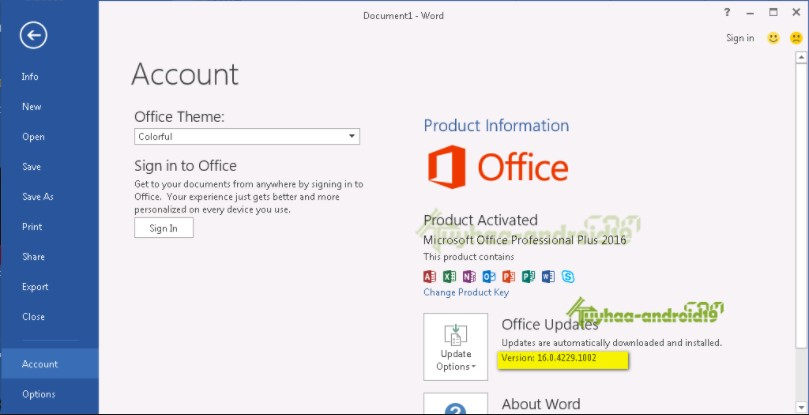 Microsoft Office 2016 Crack + Serial Key, License Code Free